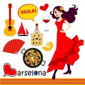 Španělský ikony nastavit