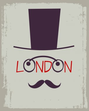 Cartoon London poster