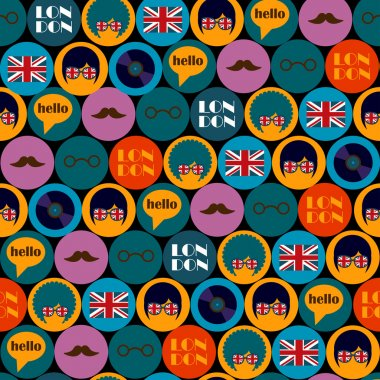 Pop art english pattern