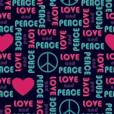 Love and peace background