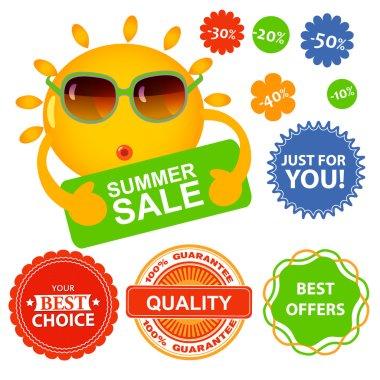Set of summer sale labels