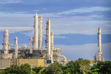 Petroleum plant with sky