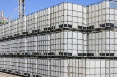 Plastic tanks container