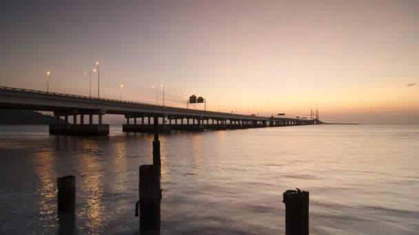 Včasný úsvit na Penang Druhý most přes moře