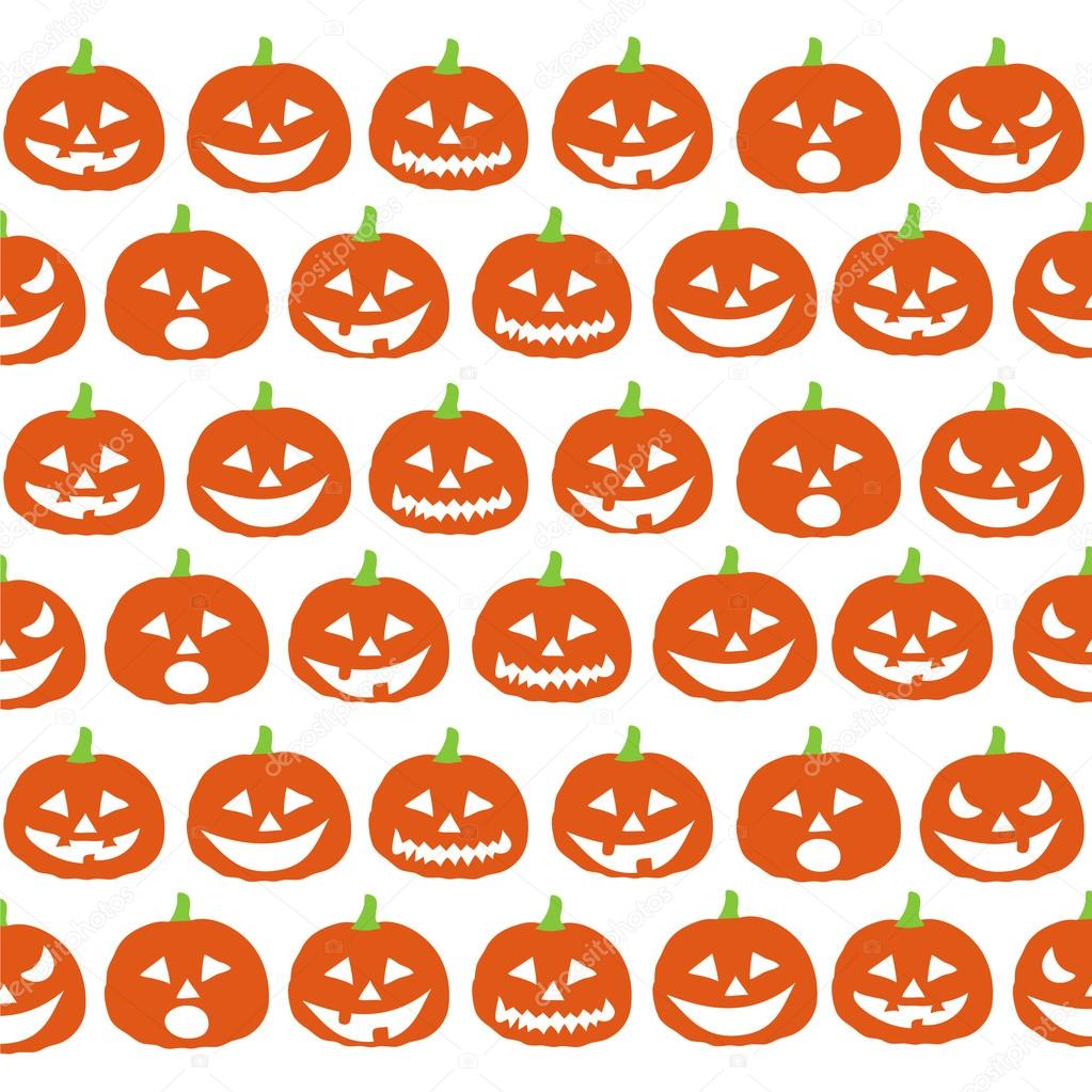 Halloween Pumpkins Wallpaper Stock Vector C Lemony