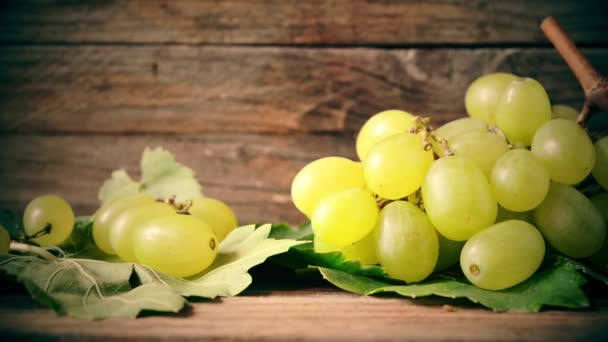 white grapes on wooden table
