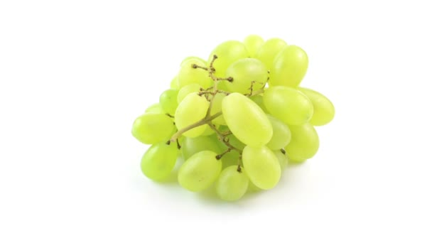 White grapes on white background