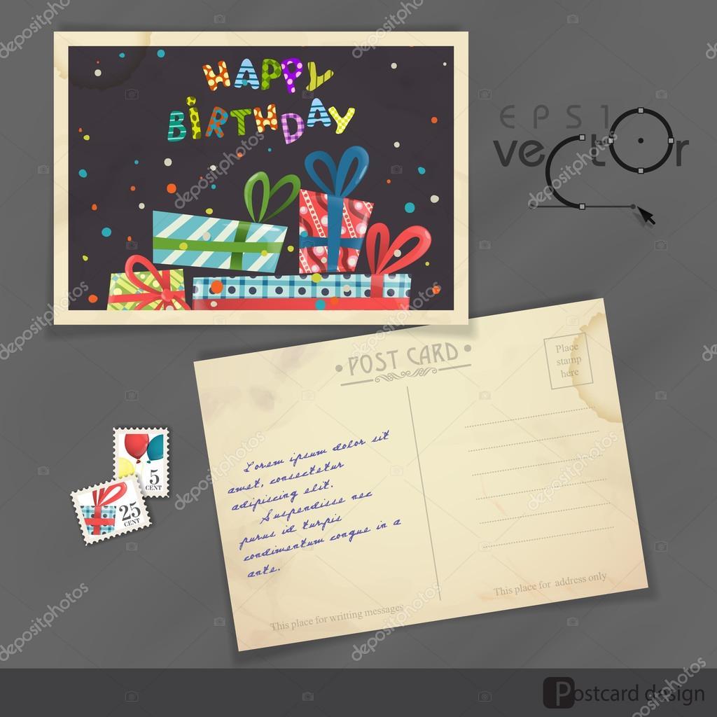 Alte Postkarte Design, template — Stockvektor © HelenStock #53906007