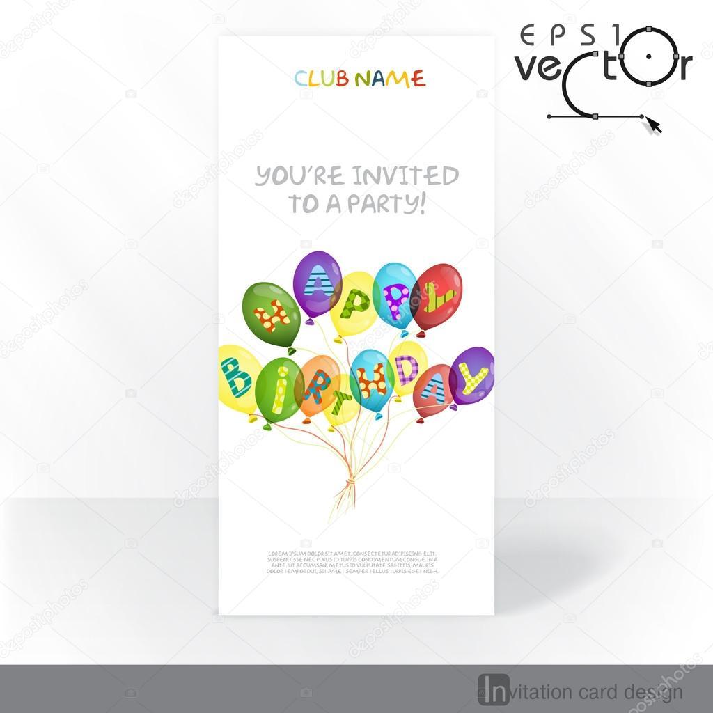 Party Invitation Card Design Template Stock Vector C Helenstock