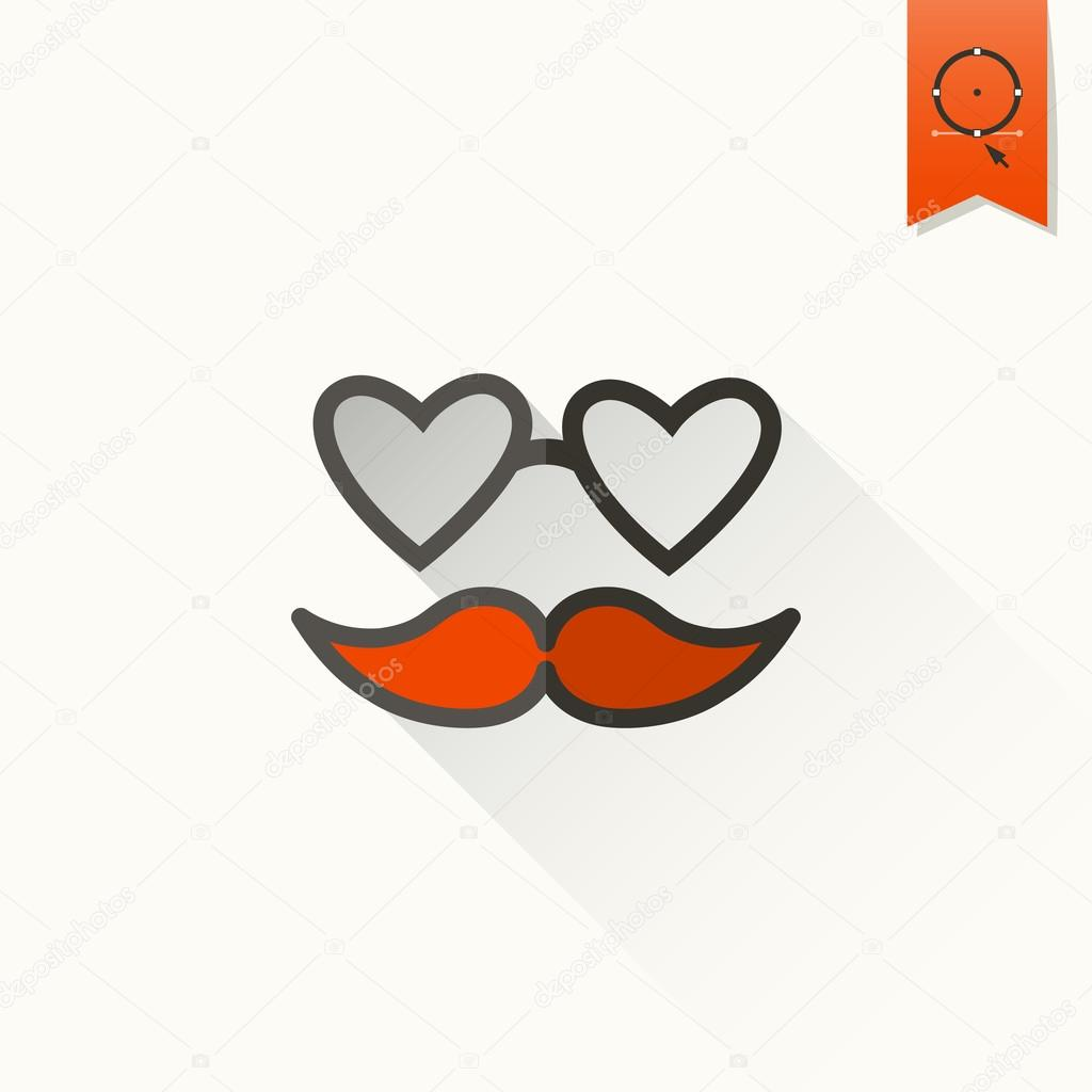 Happy Valentines Day Icon Stock Vector C Helenstock 61960721