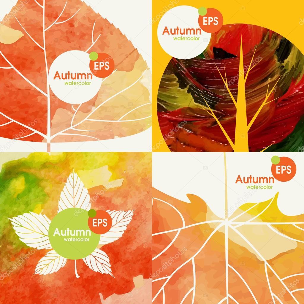 Autumnal Background Set