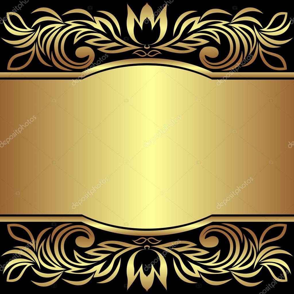 luxury background decorated golden royal borders invitation design stock vector