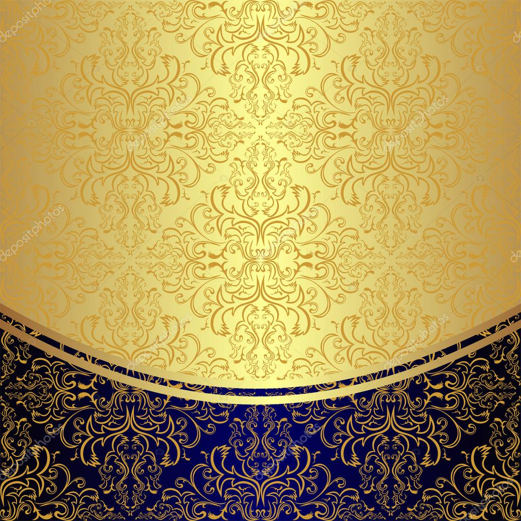 Luxury Background Decorated The Golden Floral Pattern Stock Vector
