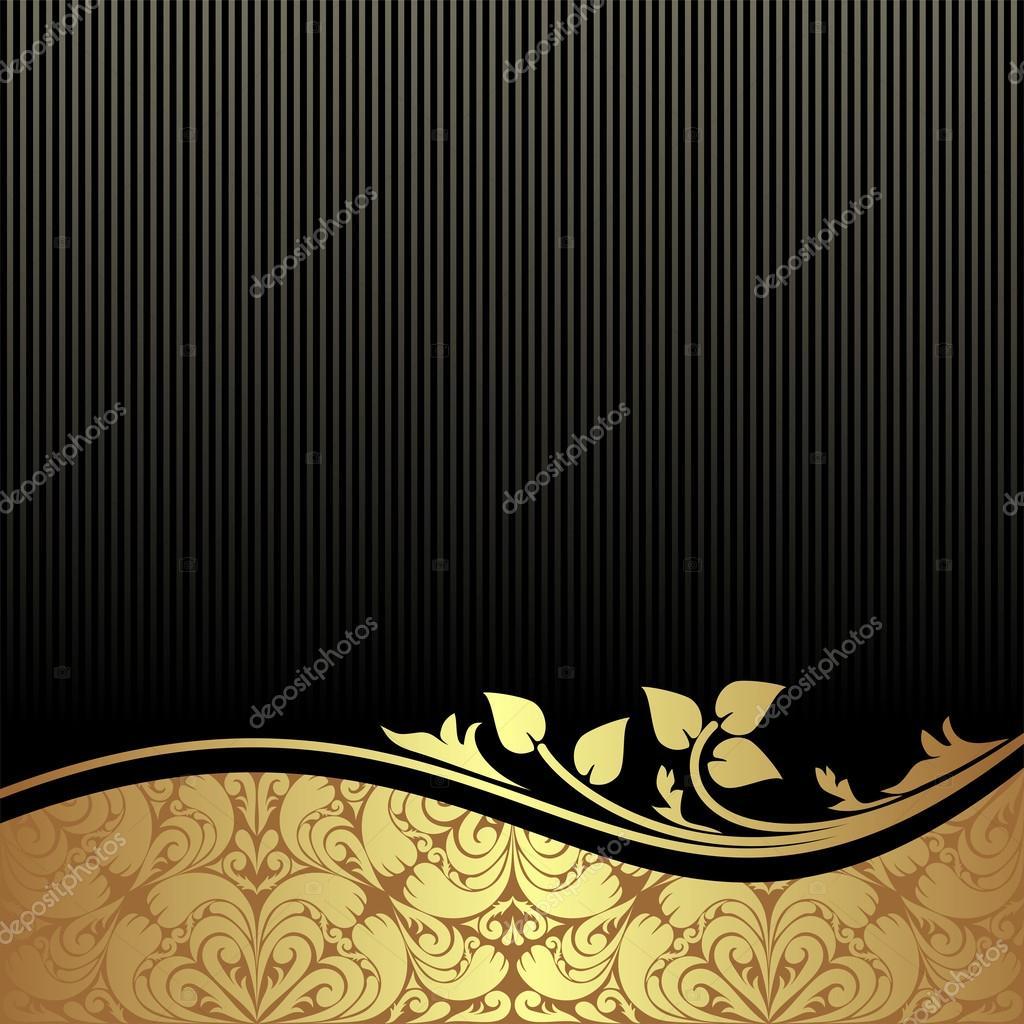 Royal black golden backgrounds vector