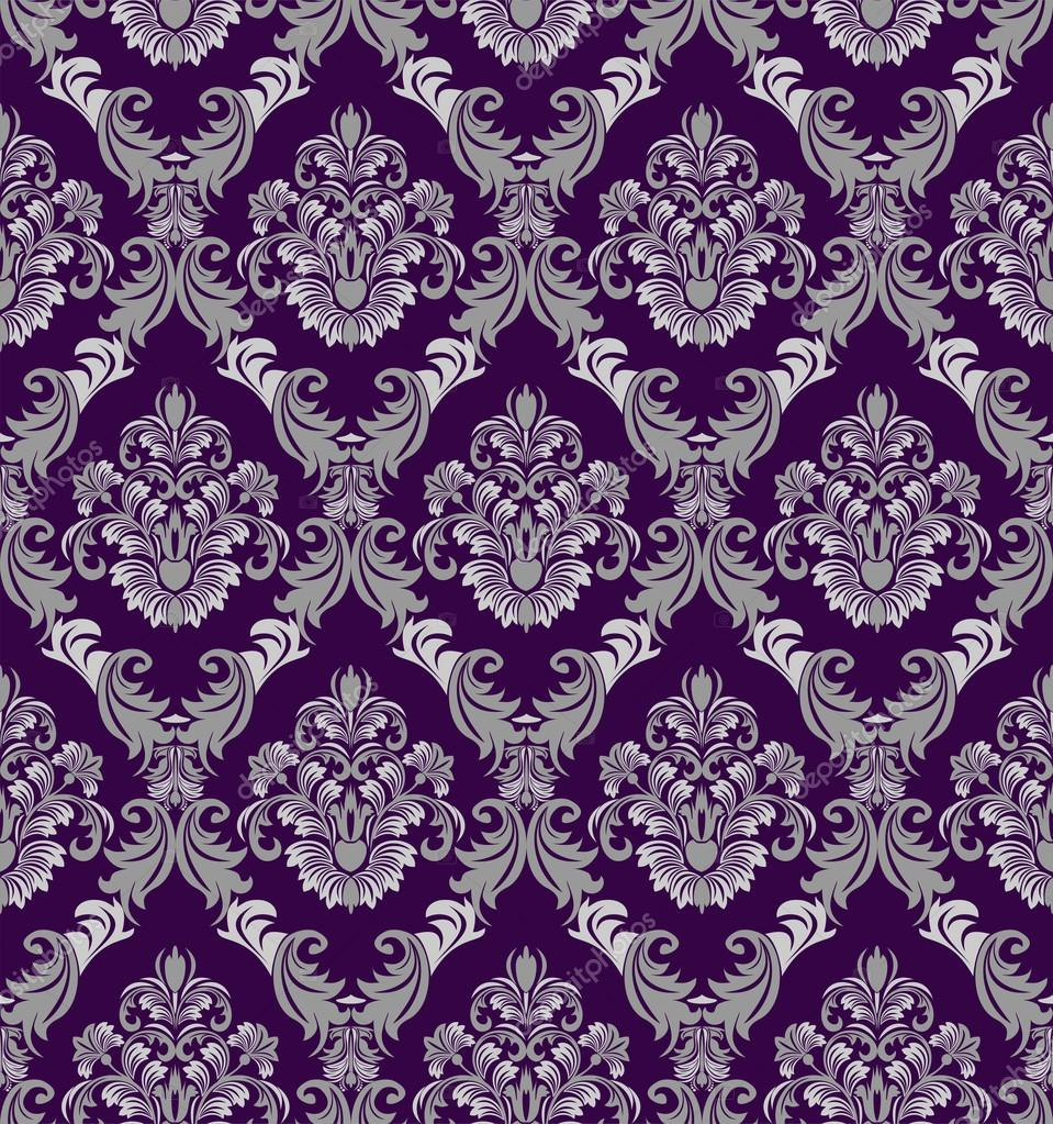 Seamless Damask Wallpaper In Victorian Style For Design Stock Vector