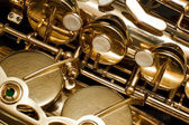 Photo Fragment valves saxophone