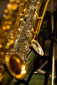Photo Fragment of a saxophone