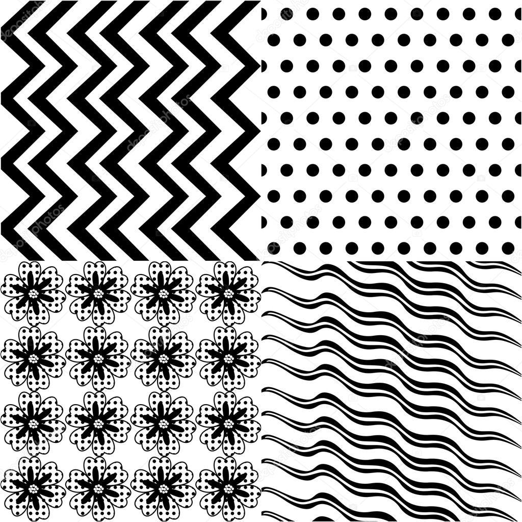 conjunto de patrón de fondo 4, patrón de la tela sin costuras ...