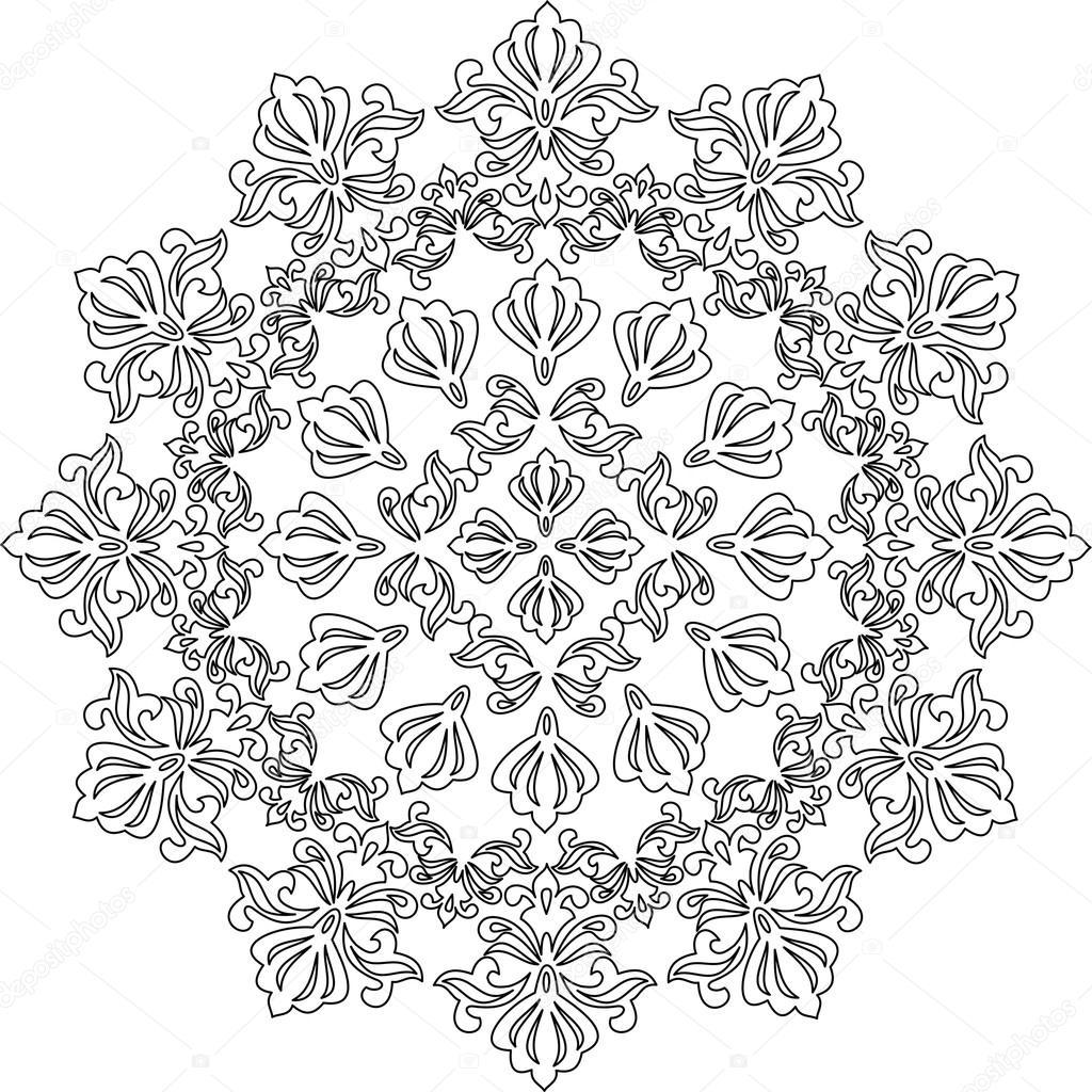 mandala blanco y negro, dibujos para colorear mandala, mandala de ...