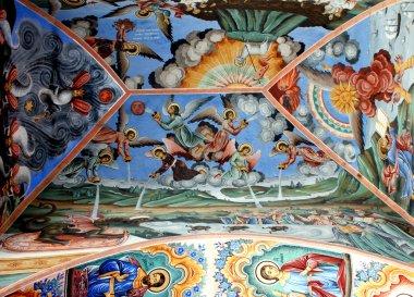 """Картина, постер, плакат, фотообои """"фрески православной церкви. рильский монастырь """", артикул 74751779"""