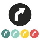 Girare a destra freccia icona
