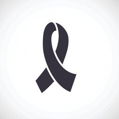 Black awareness ribbon.