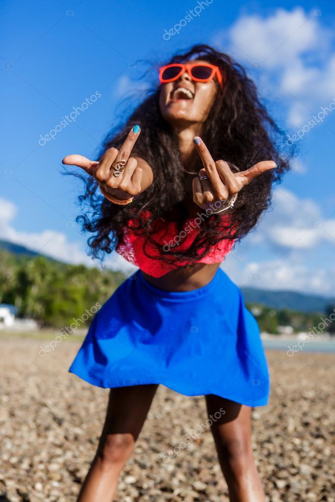 Sexy ragazza nera adolescenti