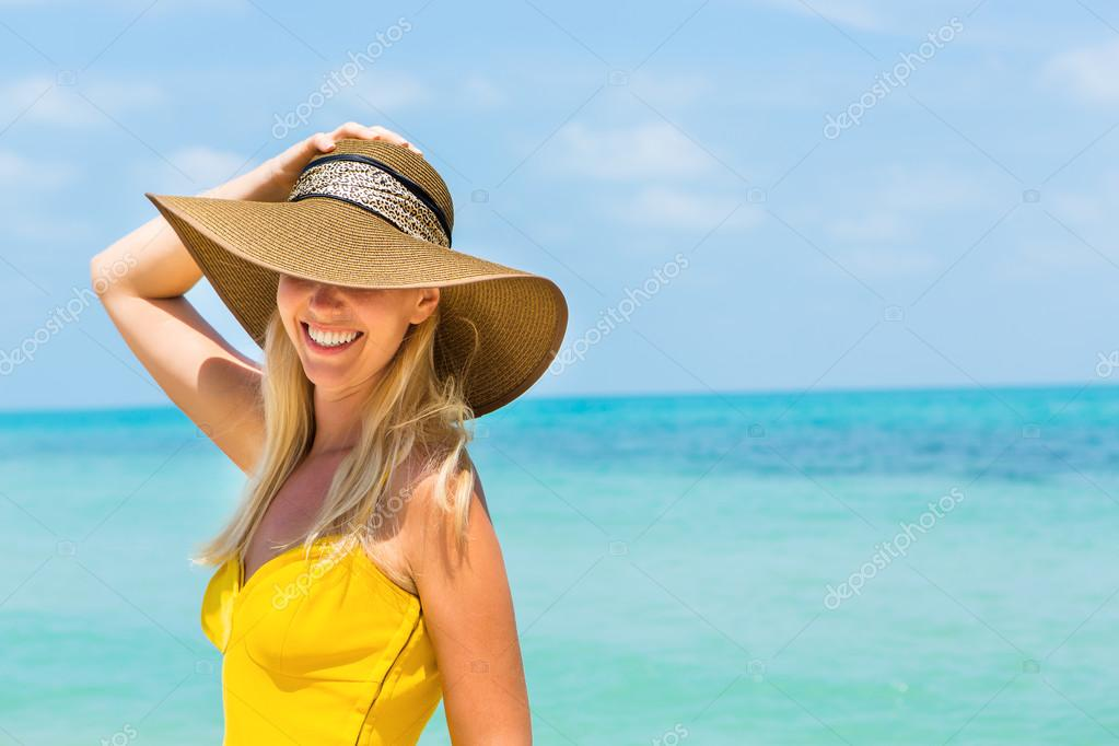 Woman in beach pictures