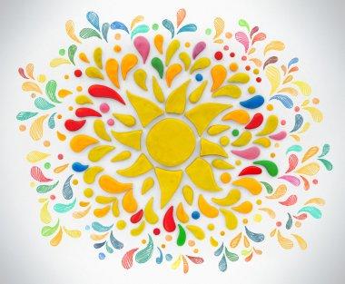 Decorative sun with rays