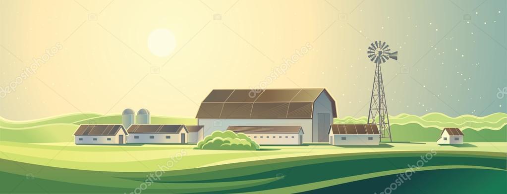 Rural farm landscape.
