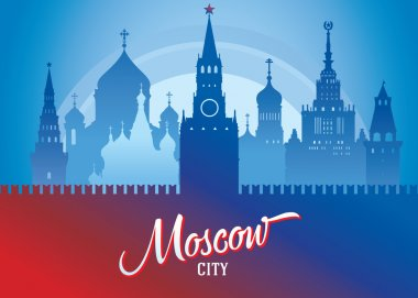 Moscow cityscape Background