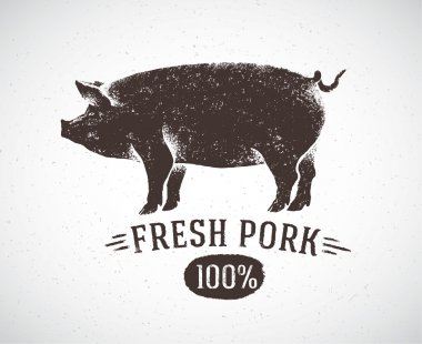 Graphic pig and label