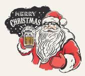 Santa Claus with a beer mug