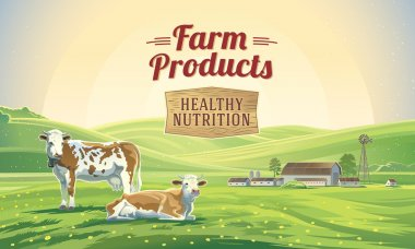 Farm natural products poster