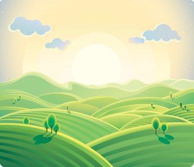 summer hills landscape