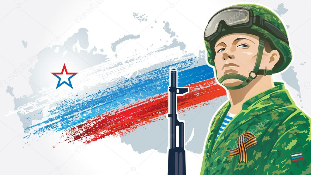 russian soldier postcard