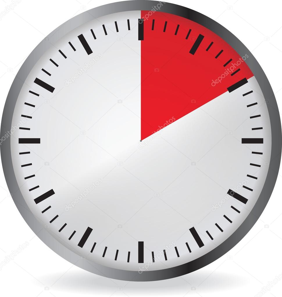 clock with red 10 minute deadline stock vector orelphoto2 120222304