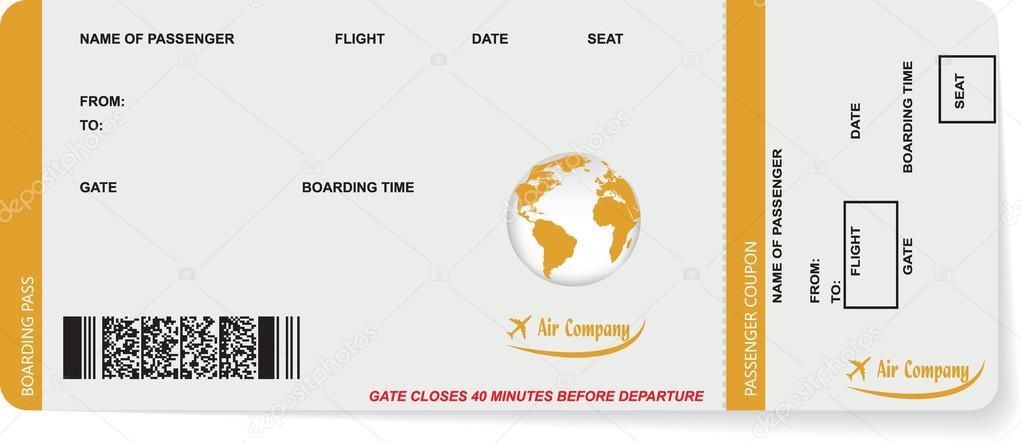 Muster der Fluggesellschaft boarding Pass ticket — Stockvektor ...