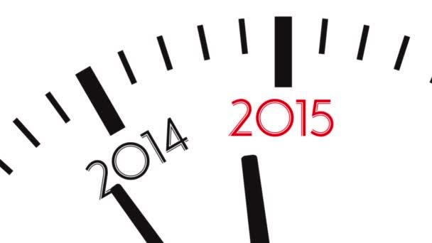 Odpočítávání hodiny od roku 2014 do roku 2015