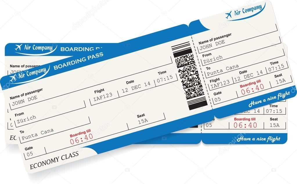Wzór O Dwa Bilety Lotnicze Na Pokład Przełęcz Grafika Wektorowa