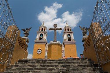 Church of Our Lady of Remedies on the top of the pyramid