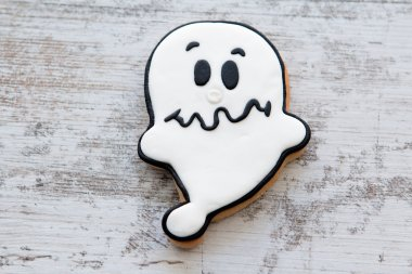 Halloween cookie with ghost shape