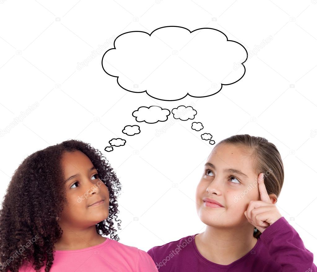 foto de Two little girls thinking Stock Photo © Gelpi #58429115