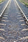 Photo Railroad track sunlit