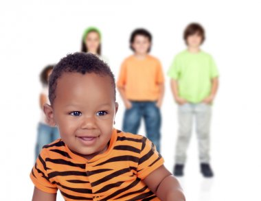 afroamerican baby with other children