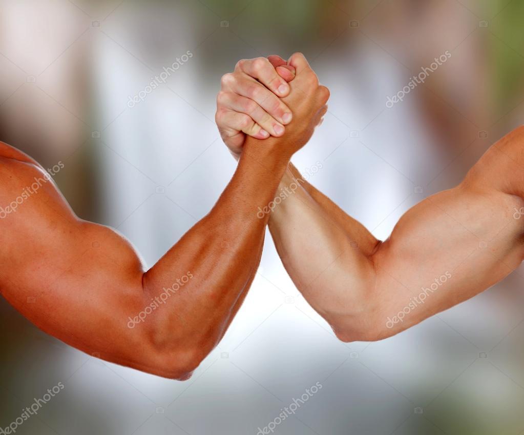Arme mit Muskeln ein Puls — Stockfoto © Gelpi #77920288
