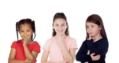 Three pensive children