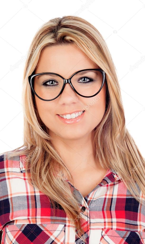 Hot Teen Brille Blondine