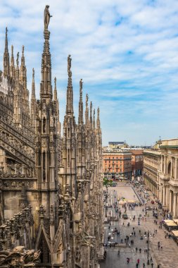 Roof terraces of Milan Cathedral