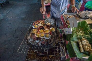 Food stalls at Amphawa floating market,